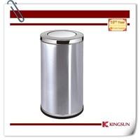 swing top waste bins with inner bin for hotel lobby use