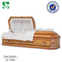 Modern rose velvet interior flower wood carved casket corner