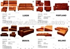 DISCOUNT SPECIAL 50% Modern Leather &amp; PU &amp; Fabric Sofa Furniture