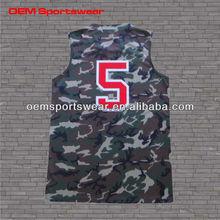 Wholesale mens camo basketball jersey logo design