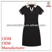 branded clothing black polo collar girls fancy dresses