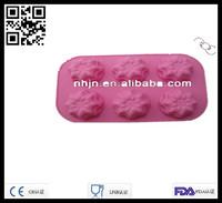 New 2014 6pcs Mini Rose Shaped Cakes Pan Silicon Cake Icing Mold Bakeware