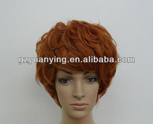 New arrived young mens fashion wigs with curly