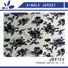 big flower printed 100 cotton knit fabric for lady's garment