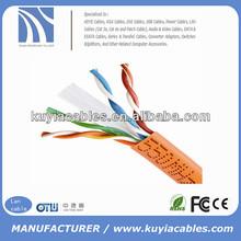 Super Orange UTP Cat6e Patch Lan cables 4pairs 3m bulk