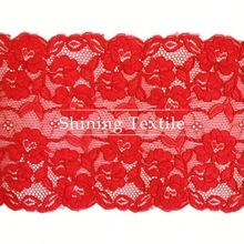 Jacquard And Textornic Nylon Spandex History On Lace Trim For Lingerie