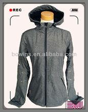 ladies fleece lined softshell jacket,outdoor jacket,hoody jacket