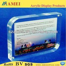 POP acrylic handprint photo frame/acrylic handprint photo frame manufacturer
