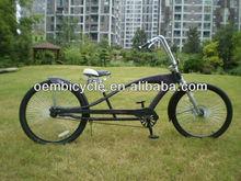 26inch classic black chopper beach cruiser bicycles