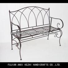 street decorative backrest metal bench