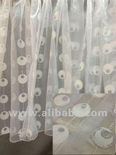 White circle burnout curtain sheers