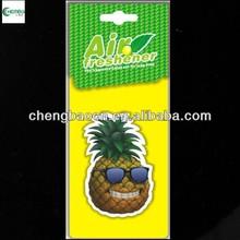 Custom Paper Air Freshener /Pineapple fragrance. For promoional