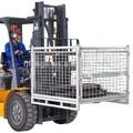 Fabricación de metal de seguridad industrial de la jaula de almacenamiento para carretilla elevadora