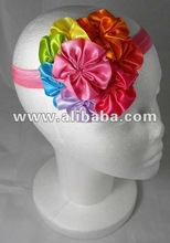 Multi Colored Rosette Flower Headband