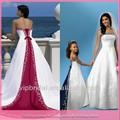 dl151 nova coleção estilo espanhol azul royal e branco vestidos de noiva feitos na china