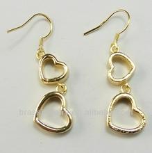 nice heart huggie earring for girls