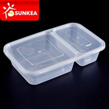2 / 4 / 6 compartments take away plastic salad lunch pack, lunch food container