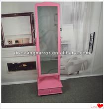 Girls bedroom furniture wooden wardrobe with mirror