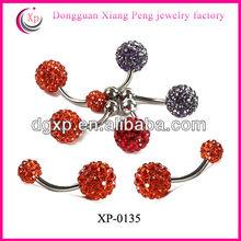 surgical steel 316L unique design gemstone jewelry