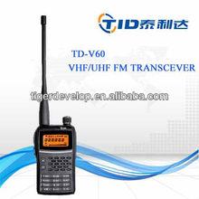 Td-v60 5watt fm long range display ham radio vhf uhf handheld telsiz