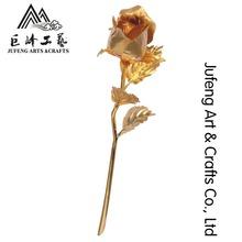 24k gold budding rose for lovers gift