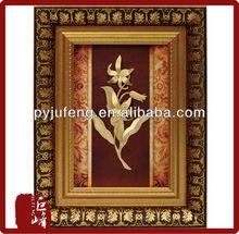 24k gold foil lily flower decoration frame best home deoration hot selling 2015