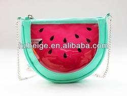 Watermelon shape pu Girls chain Shoulder Bag ,little girls shoulder bag