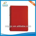 cobertura de plástico em espiral de papel de pedra branca páginas dirary notebook