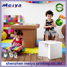 Cardboard children funiture Cardboard desk / stool /corrugated cardboard chair card furniture wholesales the best christmas gift