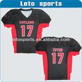 De encargo de la juventud fútbol americano jersey de la bandera del uniforme del balompié