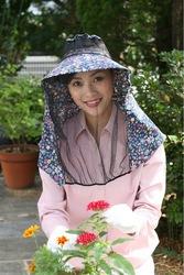 large hats gardening fly net