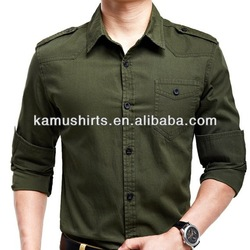 Wholesale Mens Military Uniform Shirts/Army Shirts for Man/Long Sleeve ...