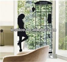 removable black women wall sticker window wall decal