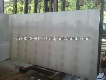 Medium grain pure white marble slab