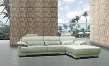 Luxury pure white leather sofa high quality sofa brands Yuqi corner group sofa 9048
