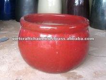 Round Ceramic planter, garden pot, outdoor planter
