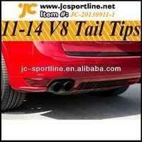 Turbo GTS 958 Sport Carbon Black OEM 2011-2014 V8 Car Exhaust Muffler Tail Tip for Porsche Cayenne Exhaust Tips for Porsche