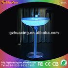 2013 hot sale plastic led high bar table/bar counter