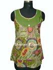 2795 Cotton Tops Ladies' Blouses & Tops women blouse cotton tops Apparel Blusa manufacturer exporters pushkar