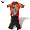 Sublimation Cartoon Children Cycling Wear Red