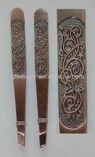 Bronze cosmetic tweezers TW198