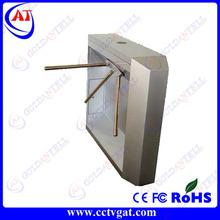 Automatic gate system waist height bi-directional barrier electronic RFID tripod glass turnstiles