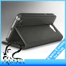Newest Real Cowhide Genuine Leather Case For Samsung Galaxy note 2 Smart Flip Cover N7100