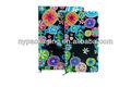 De flores de colores de impresión de tapa dura cuaderno/tamaño mini cuaderno agenda/personalizada cuaderno de impresión