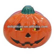 Halloween pumpkin jar