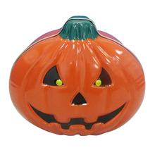 Halloween pumpkin jar / tin cans