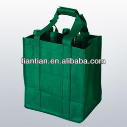 Custom non woven wine storage bag for grocery packaging