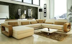Home use giant inflatable sofa ,got indian stp;e wood long sofa set furniture 9119-2