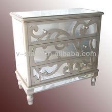 LH-VS0045 Modern furniture design multi drawer glass cabinet