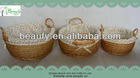 Wholesale Round Lined Wicker Baskets